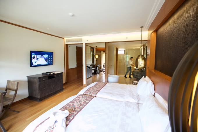 バリ島のホテルの部屋