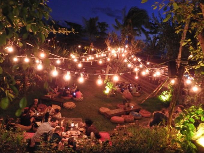 バリ島La Laguna Baliのライトアップ