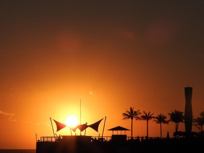バリ島La Laguna Baliの夕陽