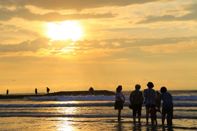 ジェルマンビーチから見える夕日