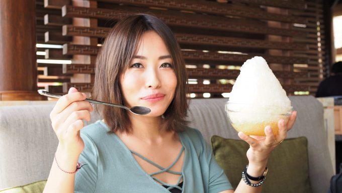 バリ島アヤナリゾート&スパバリのTSUJIRIのかき氷
