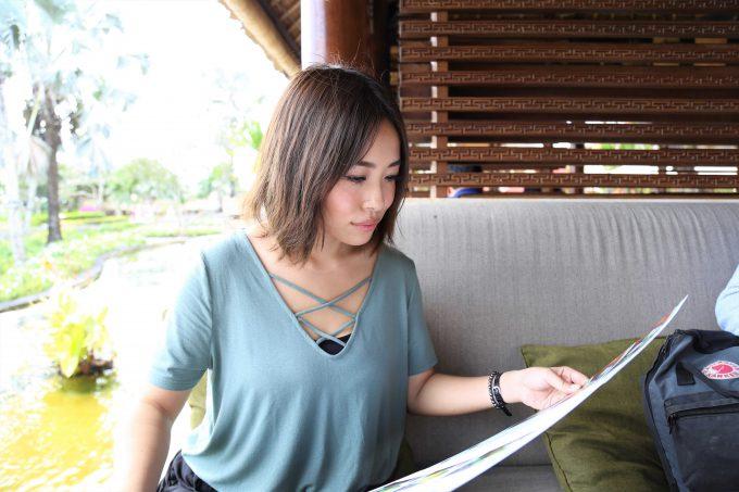 バリ島アヤナリゾート&スパバリのTSUJIRIのメニューを見るちゃんなる