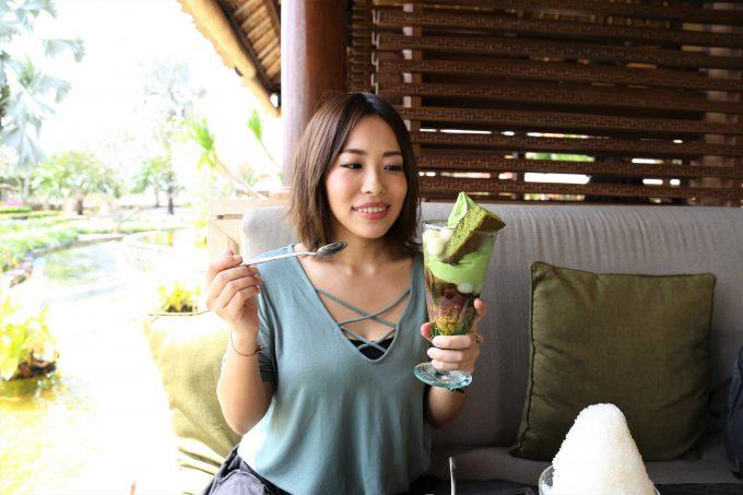 バリ島アヤナリゾート&スパバリのTSUJIRIのパフェ