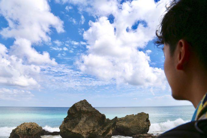 バリ島アヤナのクブビーチクラブからの景色