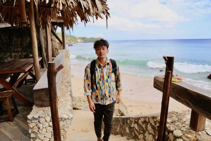 バリ島アヤナのクブビーチクラブのビーチ