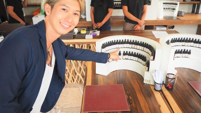 バリ島アヤナにあるL'atelier -Parfums&Creations-