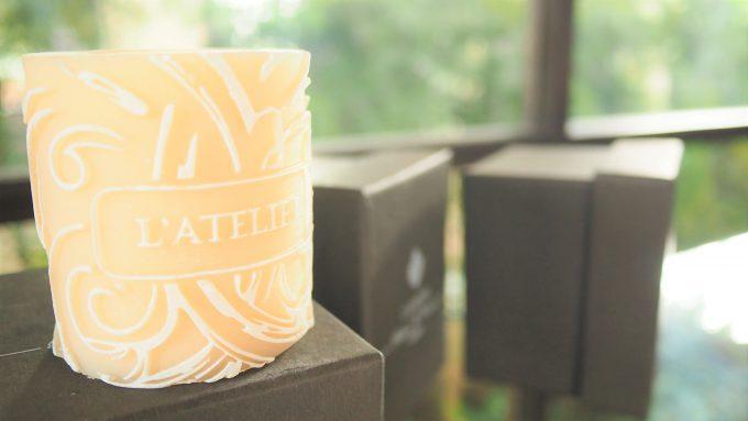 バリ島アヤナにあるL'atelier -Parfums&Creations-のキャンドル