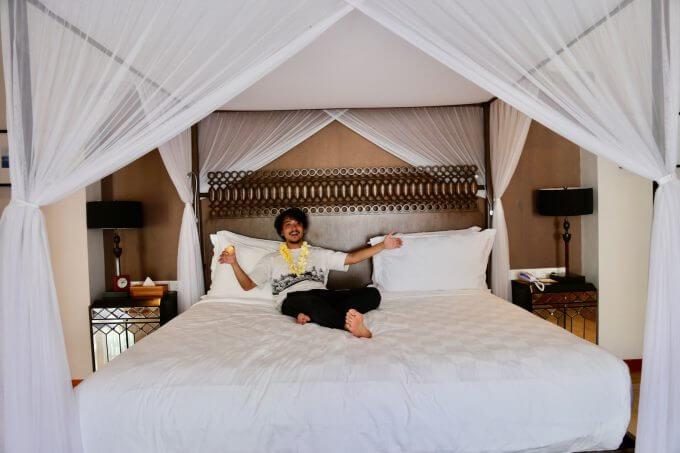 バリ島ザ・サマヤスミニャックのベッド