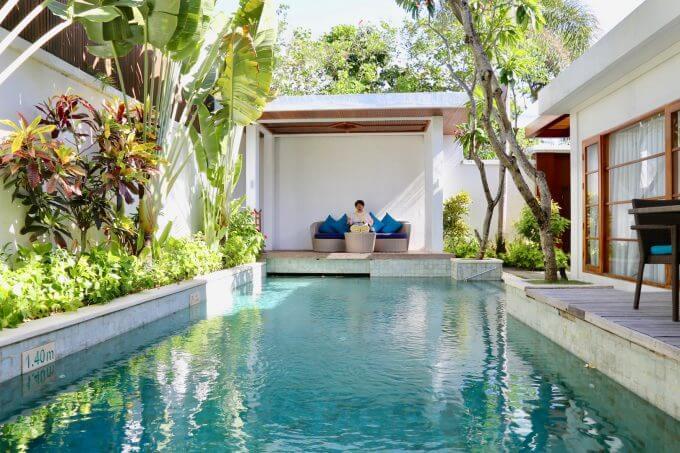 バリ島ザ・サマヤスミニャックのプライベートプール
