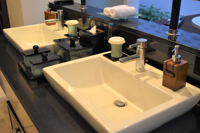 バリ島ザ・サマヤウブドの洗面スペース