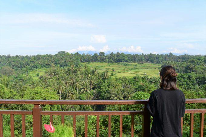 バリ島ザ・サマヤウブドから見える景色