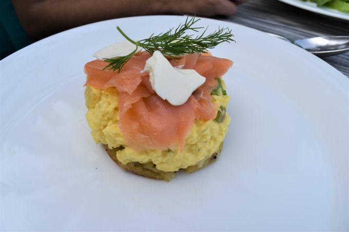 バリ島ザ・サマヤウブドにあるシーンレストランの料理