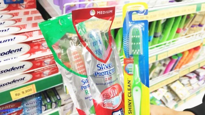でっかい歯ブラシ3種