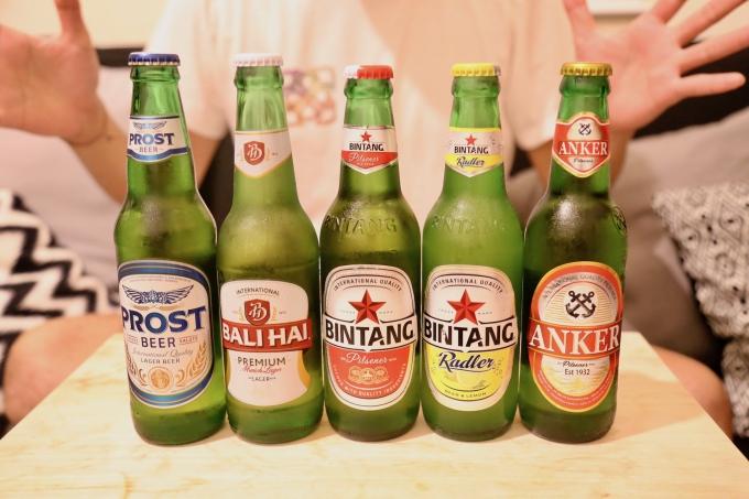 バリ島のビール数種